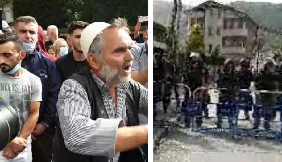 Жител на Речица им ги отвори вратите на демонстрантите за да одат во седиштето на ДУИ
