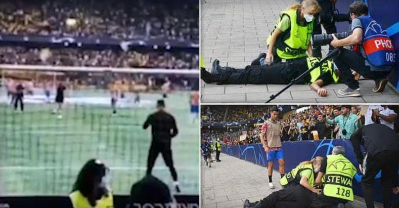 ВИДЕО: Моментот кога силниот удар на Роналдо заврши во главата на редарката